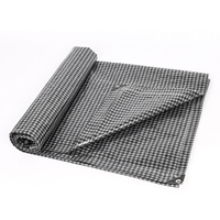 Promotional Sun Protection Tarps Black And White Grid PE Tarpaulin